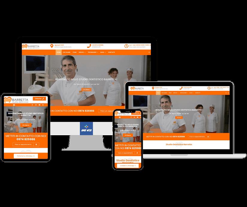 Mockup sito web